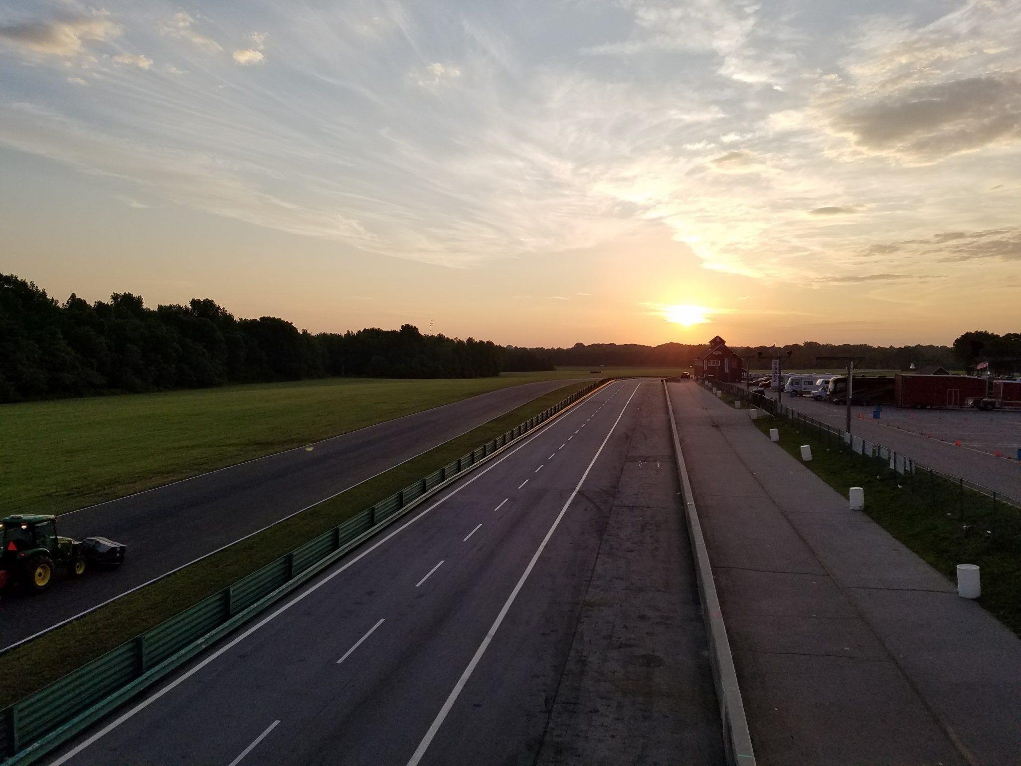 Sunrise over VIR