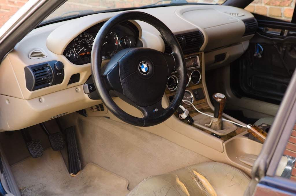 2001 BMW Z3 coupe tan interior