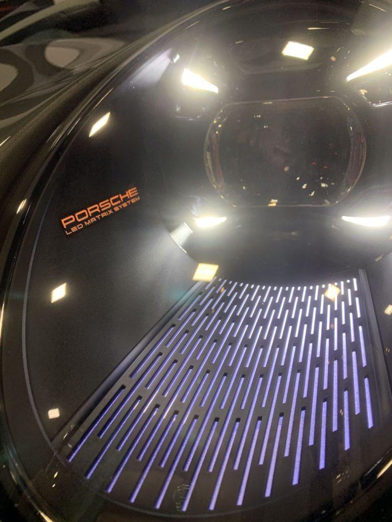 2020 Porsche 911 headlamp detail