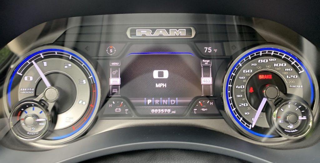 2019 Ram 2500 Limited gauge cluster