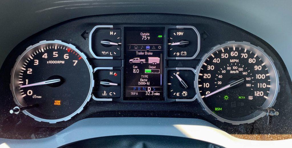 2019 Toyota Tundra Platinum gauge cluster