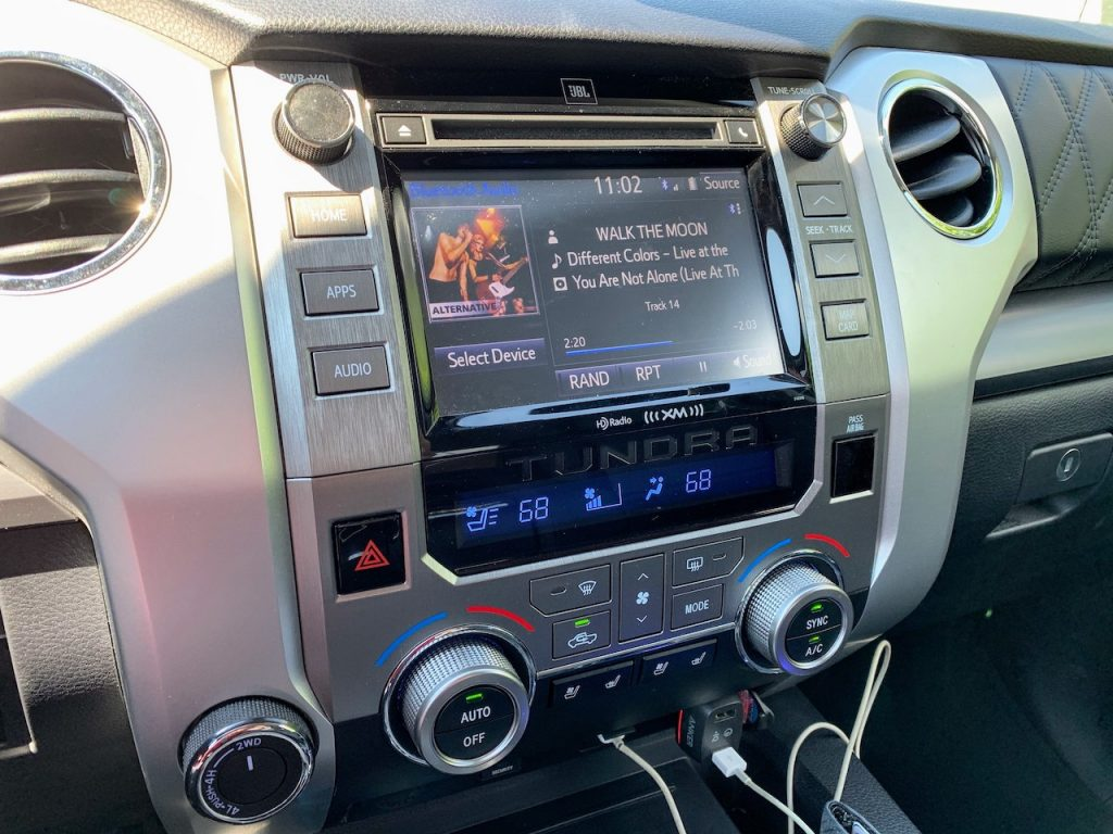 2019 Toyota Tundra center stack