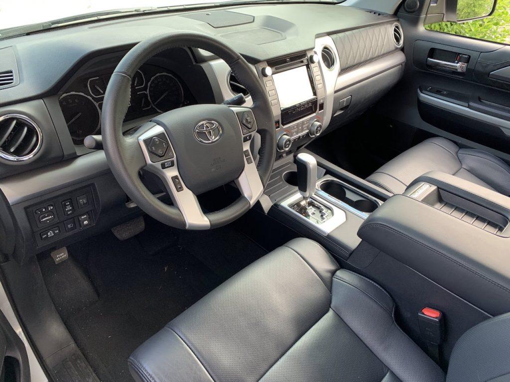 2019 Toyota Tundra Platinum interior