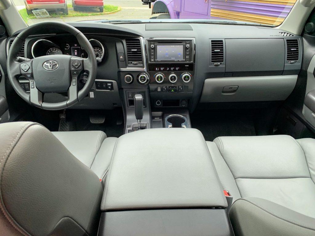 2019 Toyota Sequoia gray interior front row