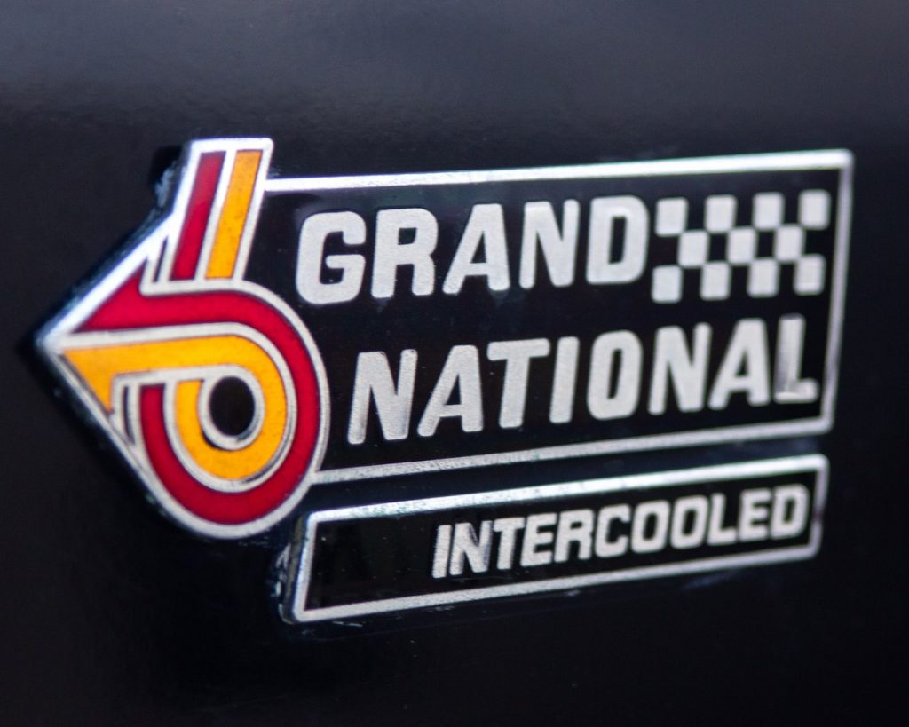 1987 Buick Grand National fender badge