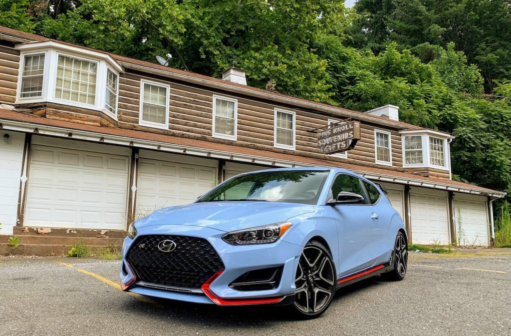 2019 Hyundai Veloster N parking lot