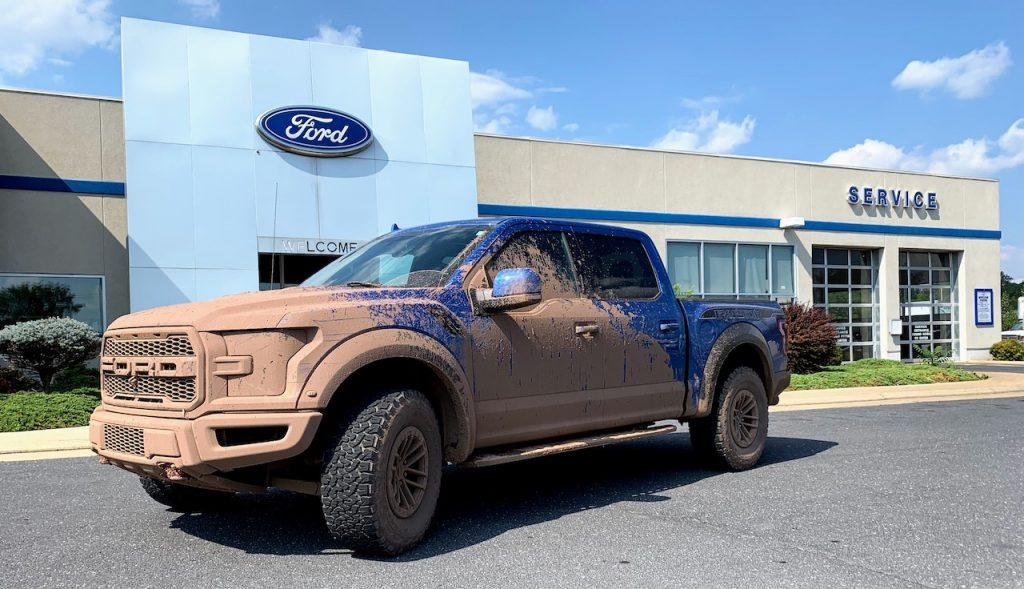 F150 Raptor mud at dealership