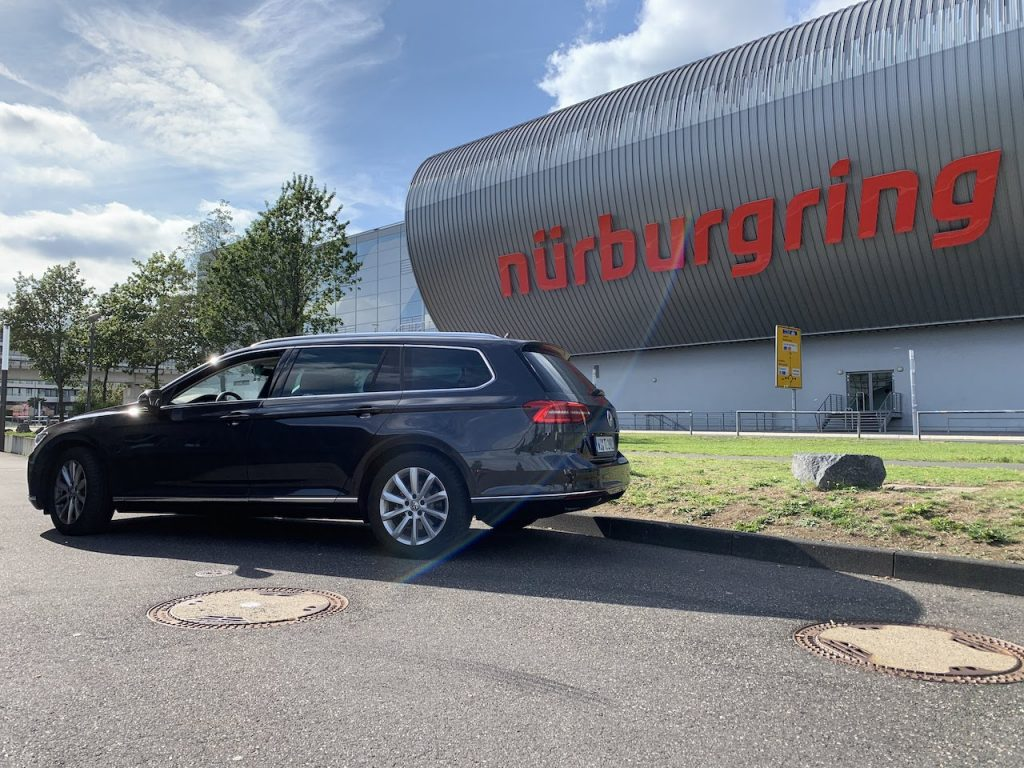 VW Passat Nurburgring parking lot