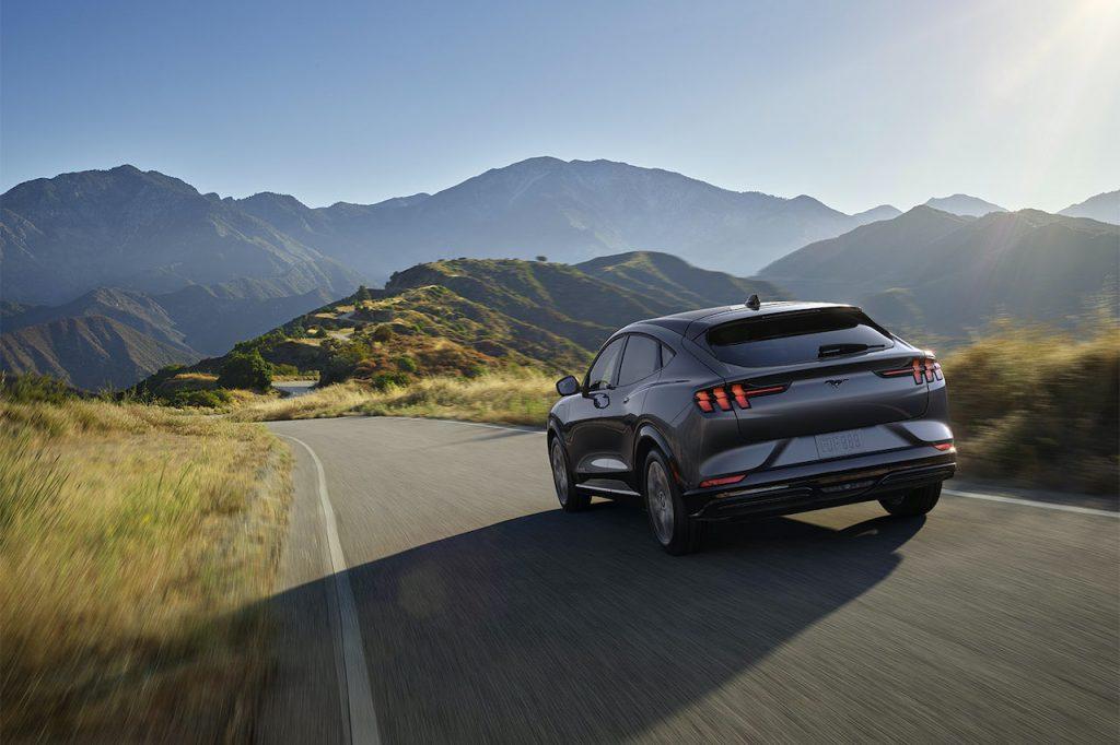Mustang Mach-E mountain road