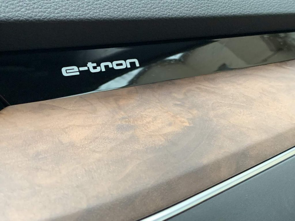 2020 Audi E-tron wood trim