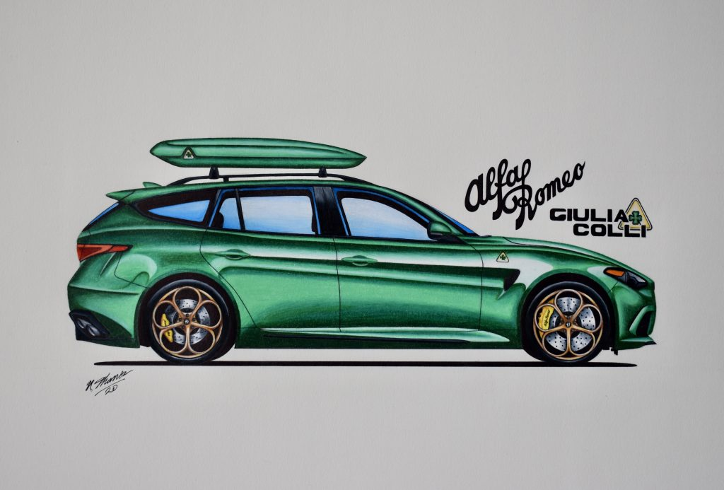Alfa Romeo Giulia wagon concept drawing