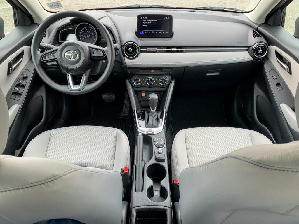 2020 Toyota Yaris hatchback interior