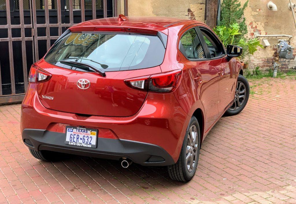 2020 Toyota Yaris hatchback rear