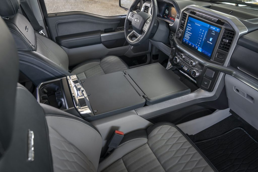 2021 Ford F-150 interior work surface