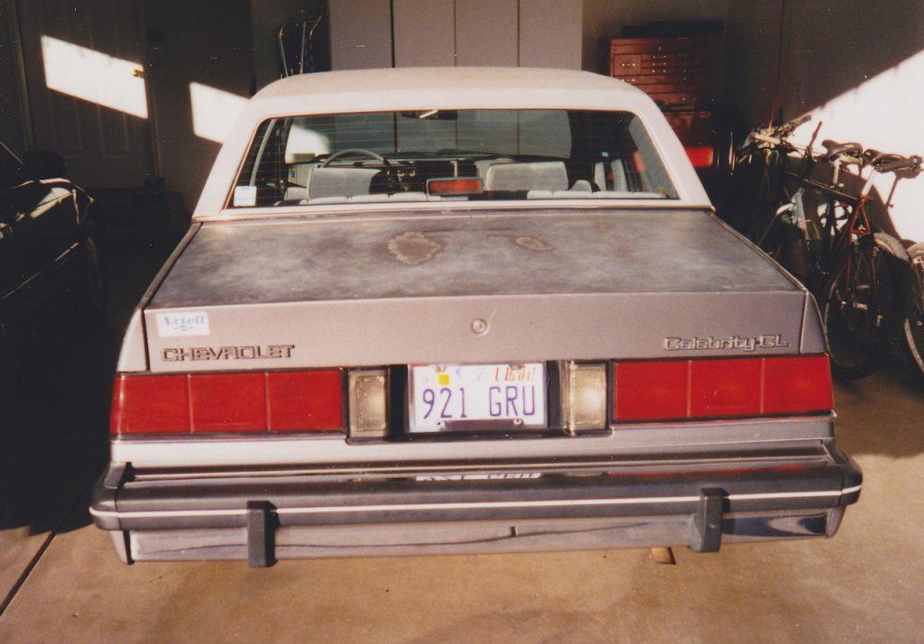 1986 Chevy Celebrity rear