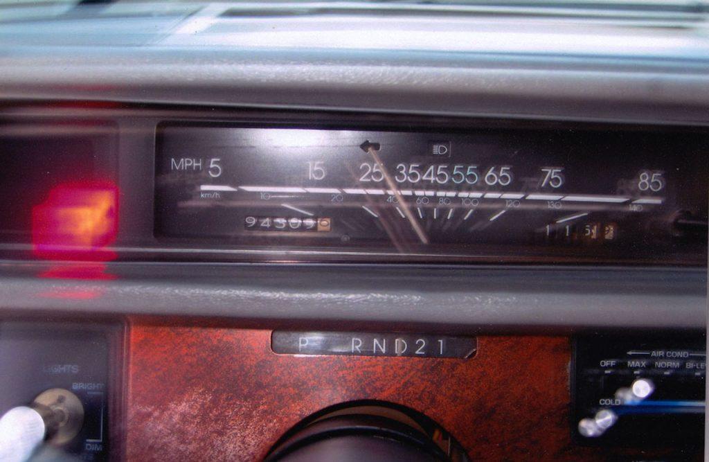 1986 Chevy Celebrity gauges