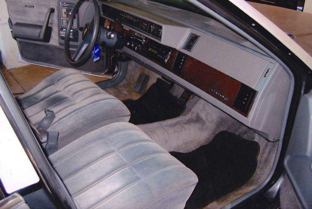 1986 Chevy Celebrity interior