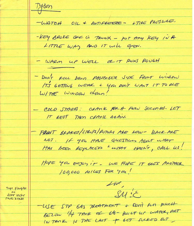 notes from steve