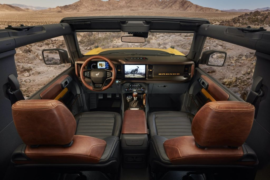 2021 Ford Bronco interior brown seats