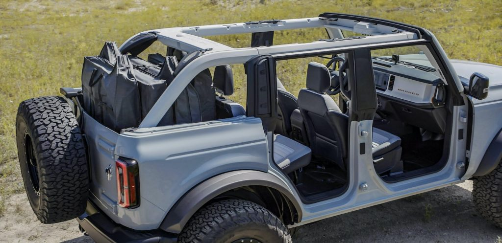 2021 Ford Bronco frameless doors