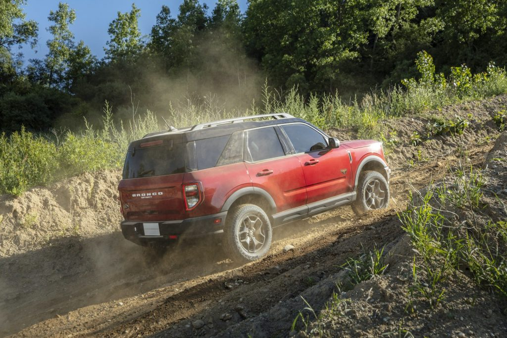 2021 Ford Bronco Sport Badlands red