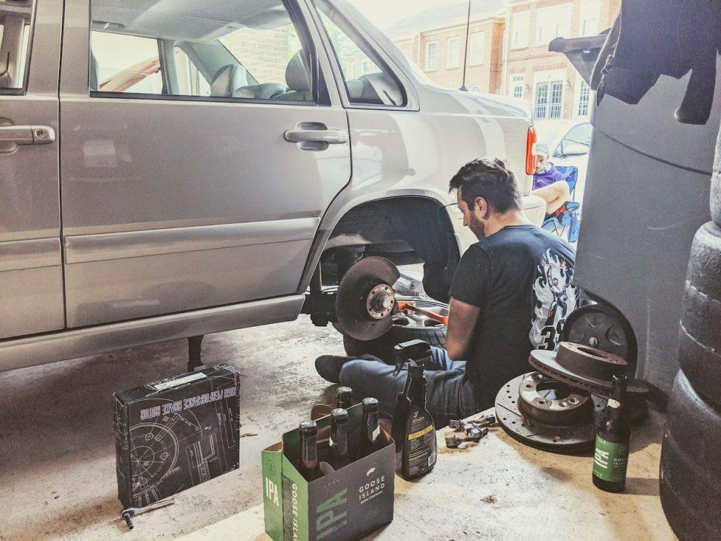 Volvo S70 T5M brake job