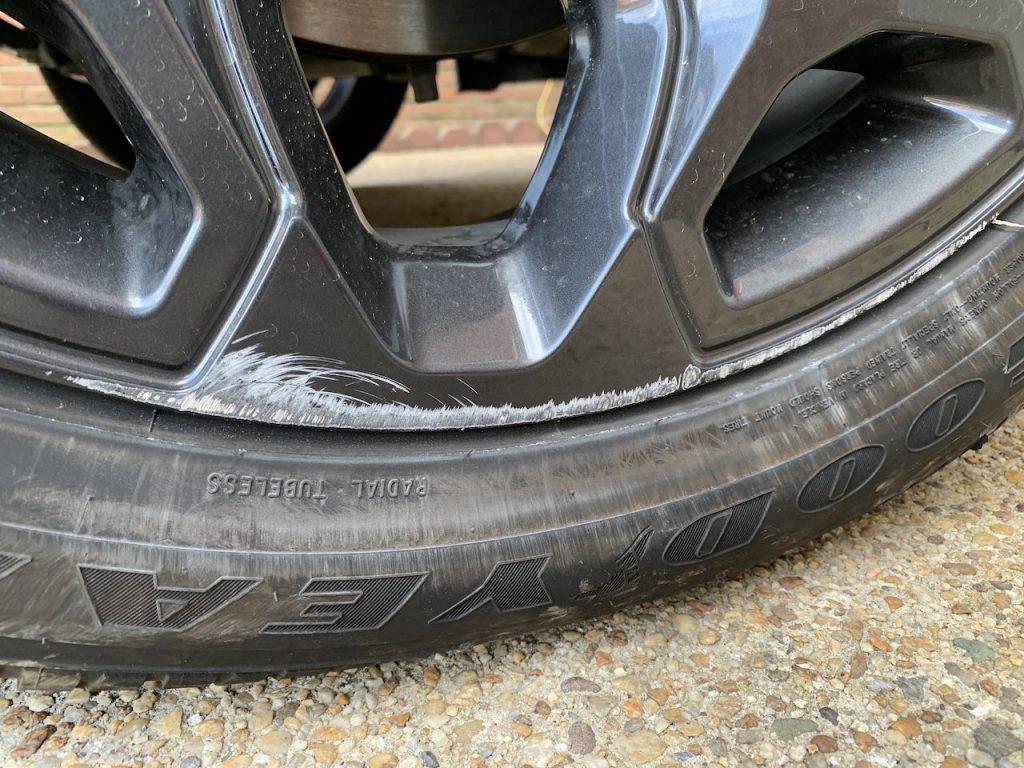 Ram 1500 Black Appearance Package wheel curb