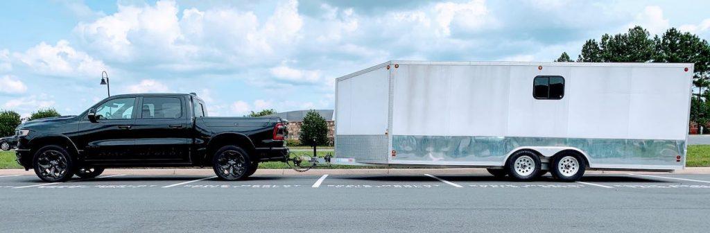 Ram 1500 EcoDiesel enclosed trailer towing