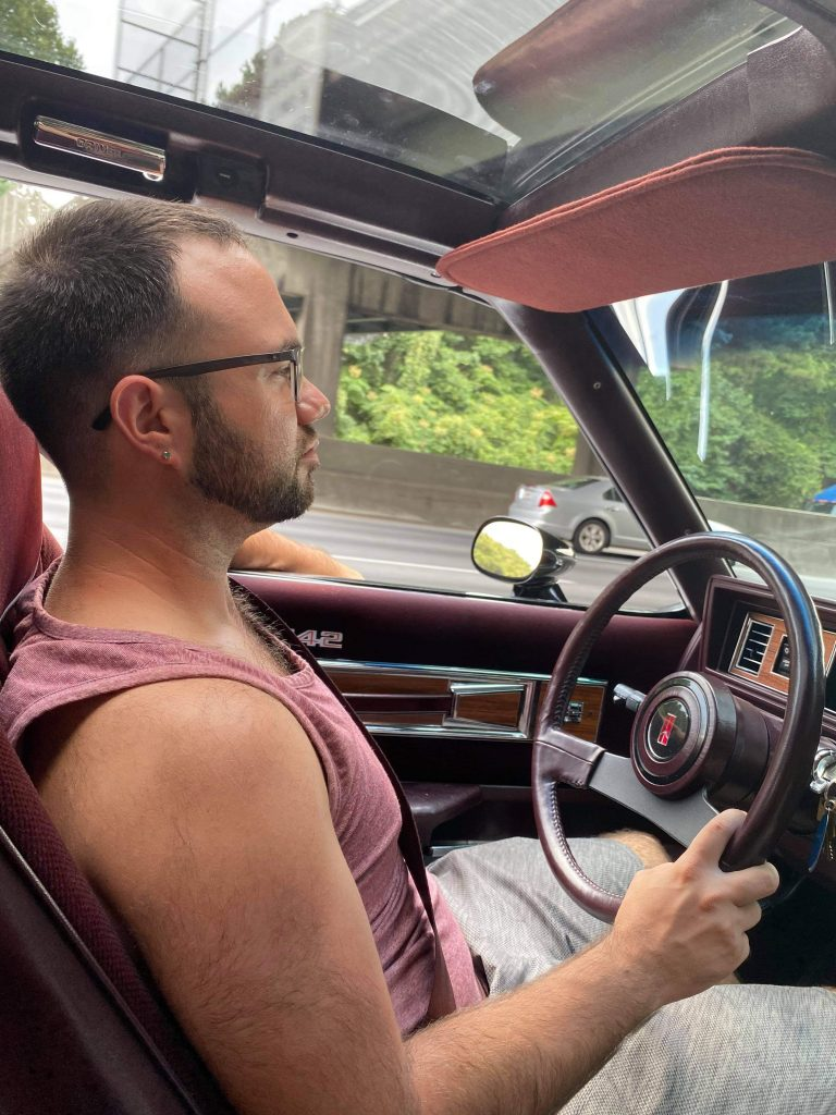 driving 1986 Oldsmobile 442