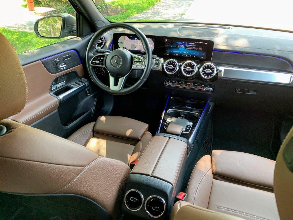 2020 mercedes benz glb250 interior brown