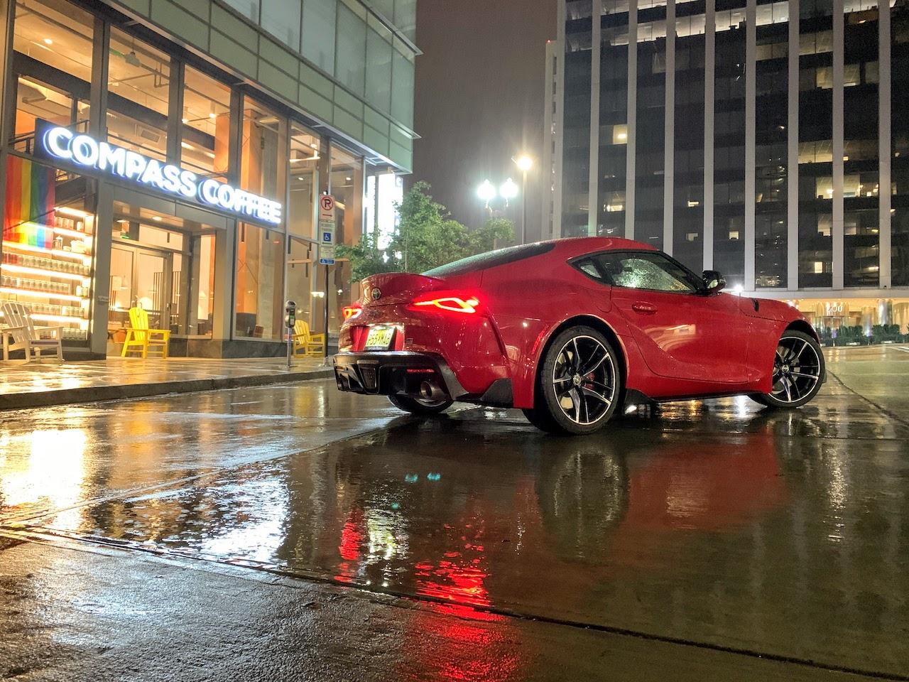 2020 Toyota Supra rain
