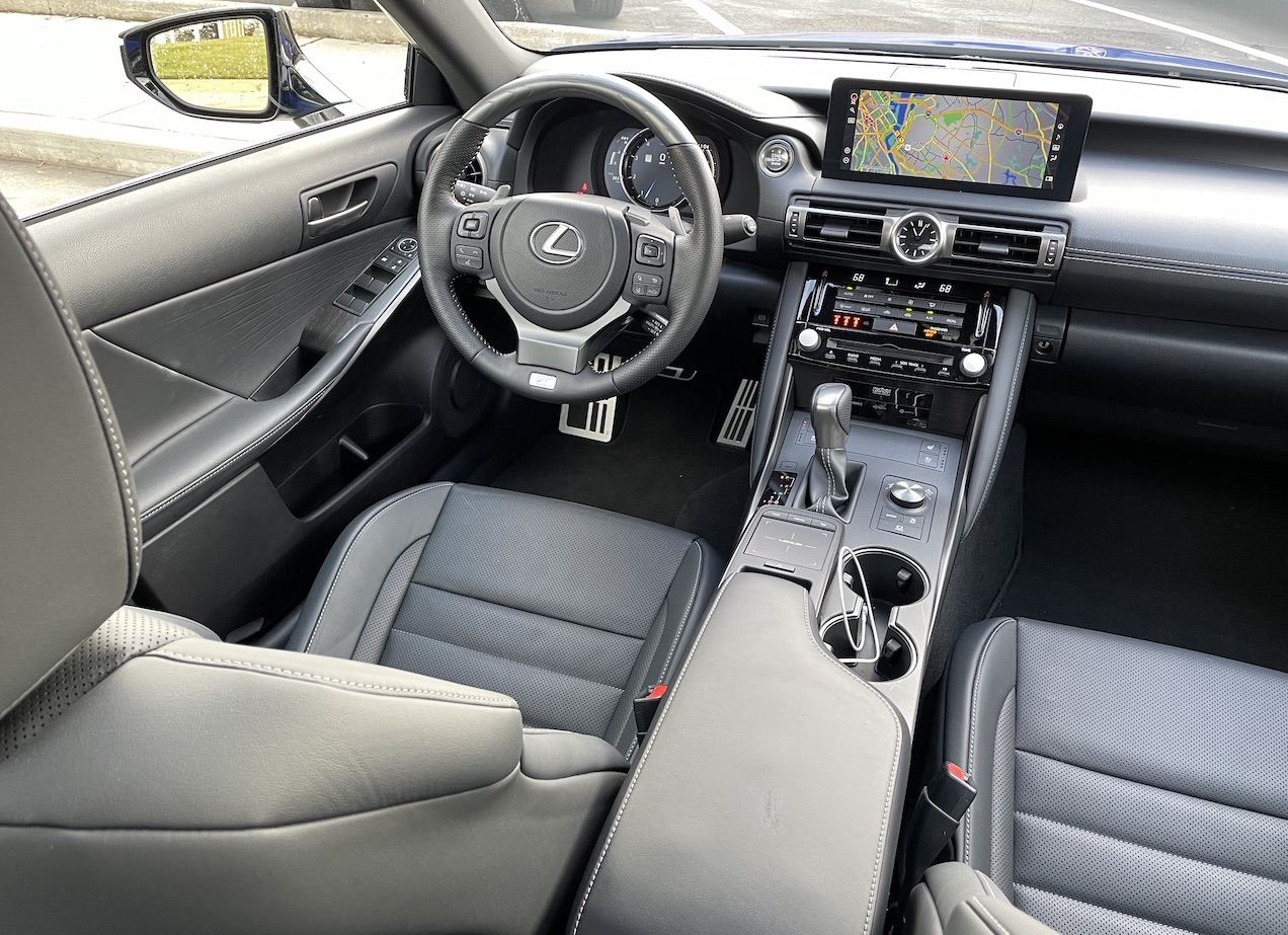2021 Lexus IS 350 F-Sport interior