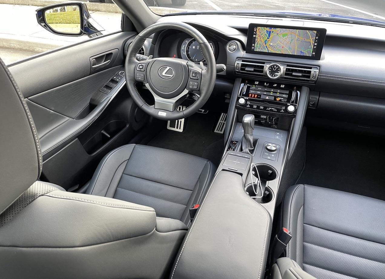 2021 Lexus IS 350 F-Sport interior